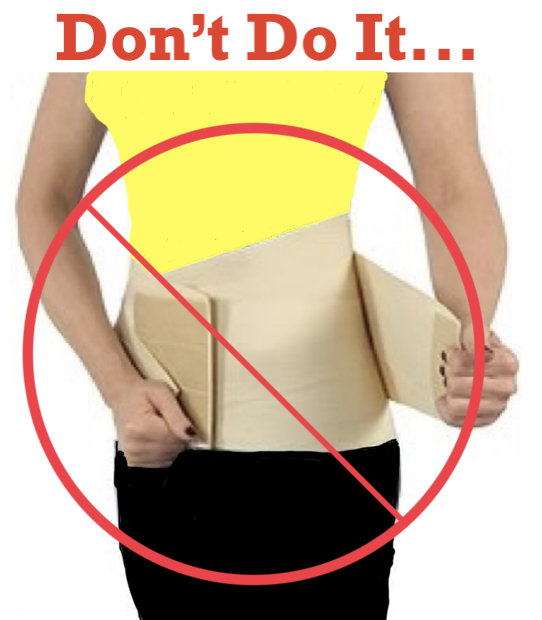 Top 5 Reasons why A Back Brace will Ruin Your Back